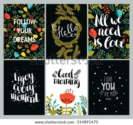 set of inspirational and