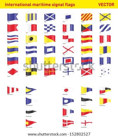 Set of international maritime signal flags #152802527