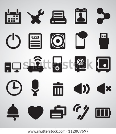 Set of Internet icons part 2 vector icons