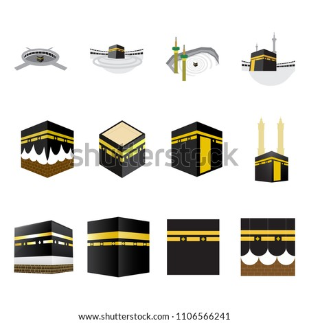 set of islamic vector design