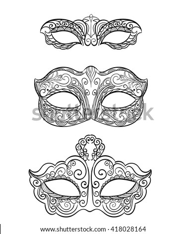 vector images illustrations and cliparts set of isolated carnival