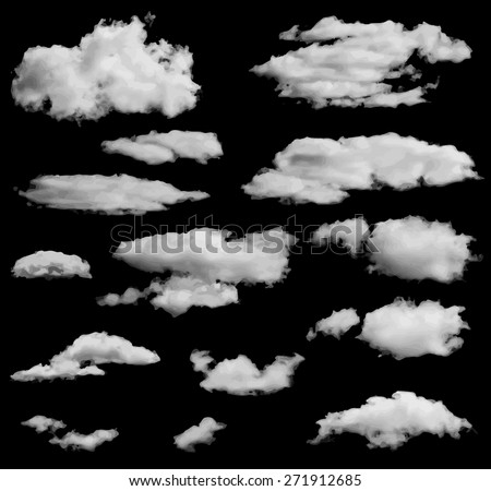 set of isolated clouds over
