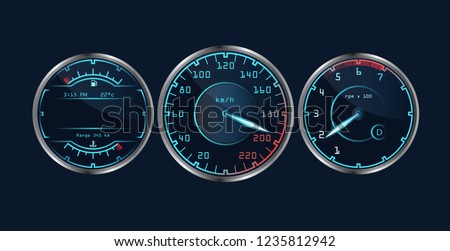 set of isolated dashboard