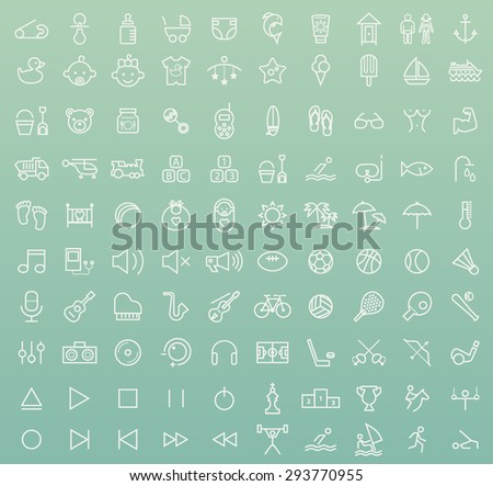 set of 100 isolated