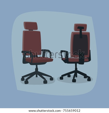 set of isolated office chairs