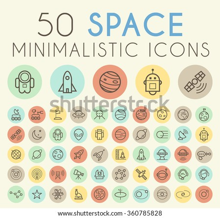 set of 50 isolated universal