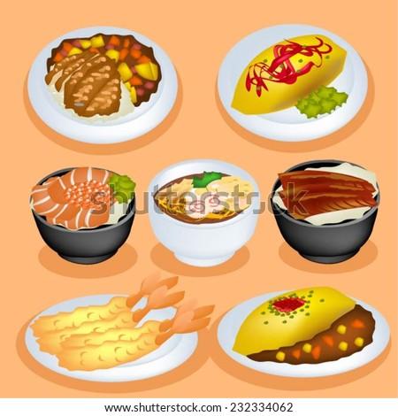 set of japan food