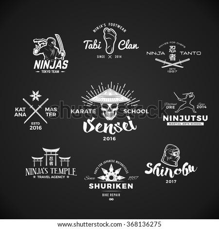 set of japan ninjas logo