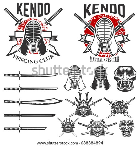 set of japanese fencing martial