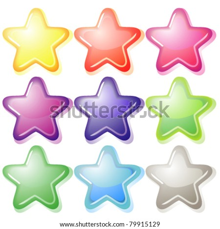 Set of jelly stars