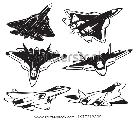 set of jet fighter collection