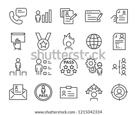 set of job seach icons ,such as work, career, traning, business, skill, meeting #1215042334