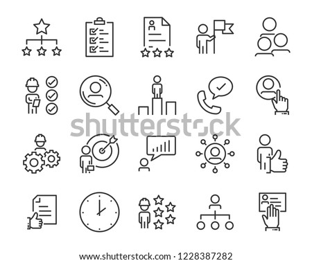 set of job seach icons ,such as work, career, traning, business, skill, meeting #1228387282