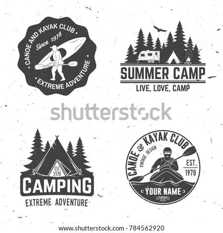 set of kayak  camping and...