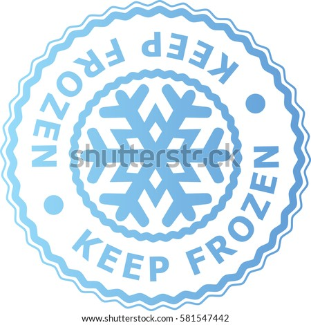 Set of Keep Frozen with Snowflake signs stickers vector