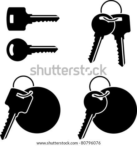set of keys. stencil. third variant