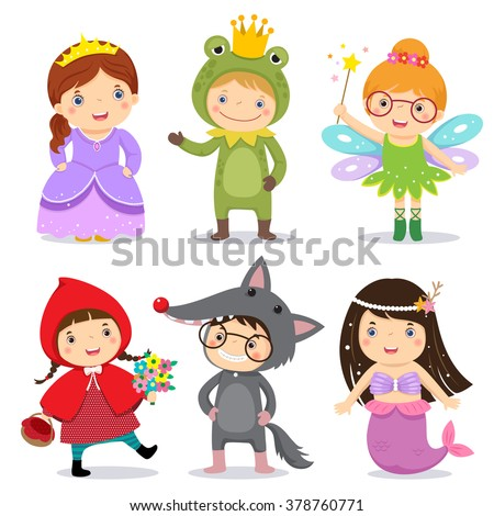 set of kids wearing in fairy