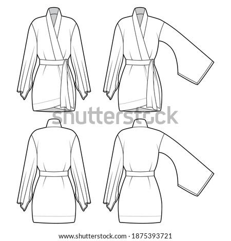 set of kimono robe technical
