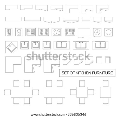 set of kitchen furniture  top