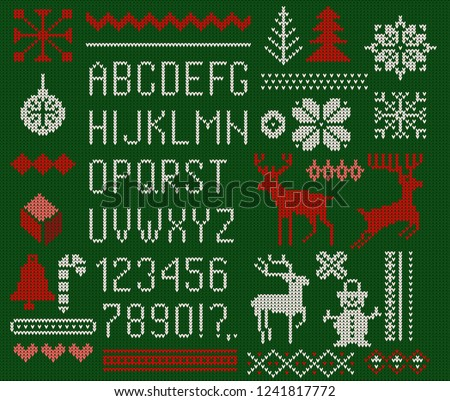 47ce43024c875 Merry Christmas Sweater Patterns - Download Free Vector Art