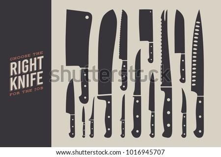 set of knives kitchen