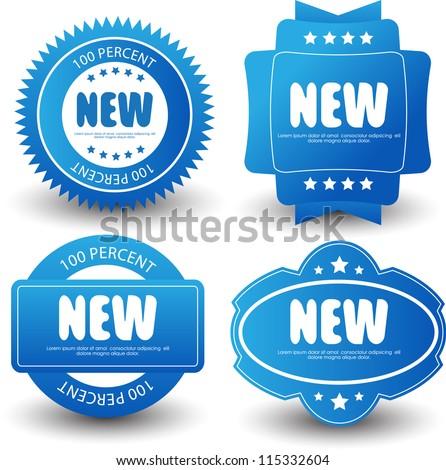 set of label/badges
