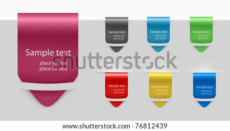 Set of labels badges and stickers. Vector illustration.