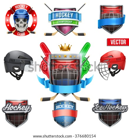set of labels for ice hockey
