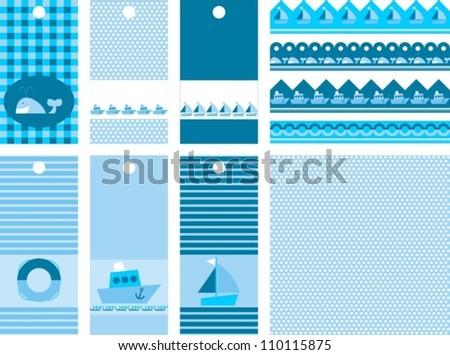 set of labels for scrap, vector illustration