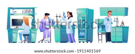 set of laboratory assistants