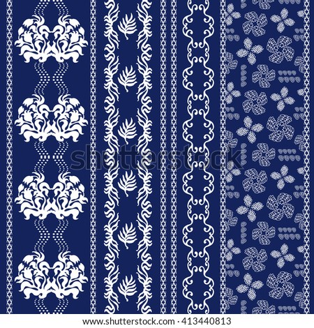 set of lace borders with