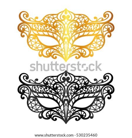 set of lace carnival venetian