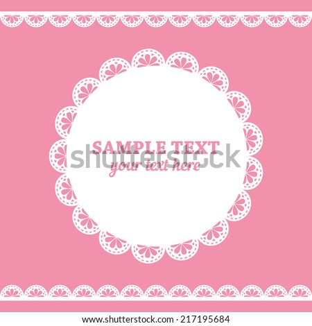 set of lace frame doily and...