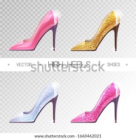set of ladies disco high heels