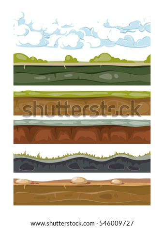 set of landscape earth
