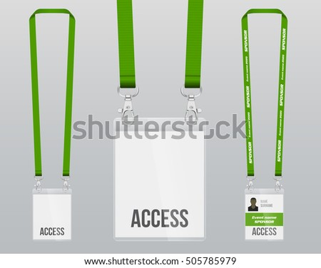 Realistic Lanyard Vector Illustrations Download Free Vector Art - Free lanyard template