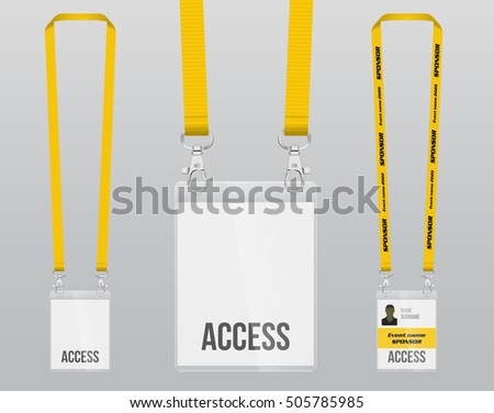 Plastic Lanyards - Download Free Vector Art, Stock Graphics & Images