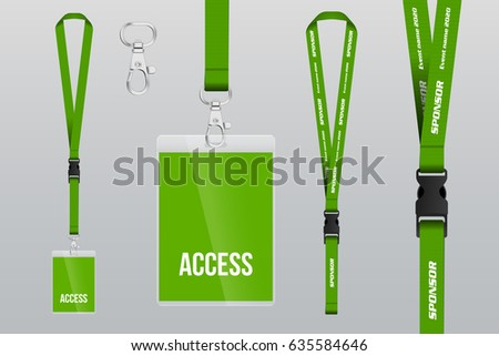 free lanyard badges template vector download free vector art