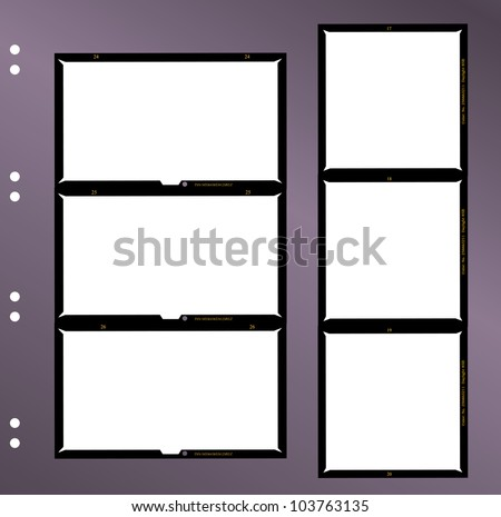 set of  large format negatives, photo frames,vector