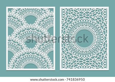 set of laser cut pattern