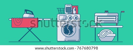 set of laundry accessories such