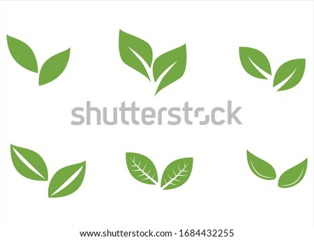 Set of leaf pair with unique styles