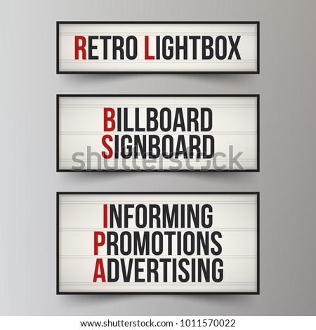 set of light boxes. lightbox...