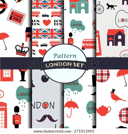 set of light british patterns