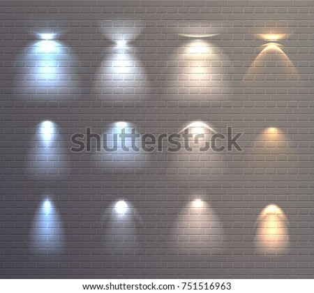 set of light effects of blue