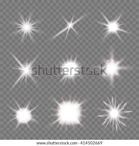set of light flashes over