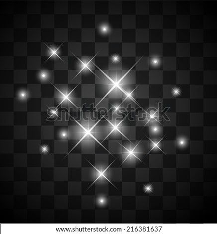 set of light sparkles on a