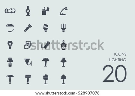 set of lighting icons