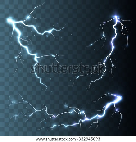 set of  lightnings  magic and