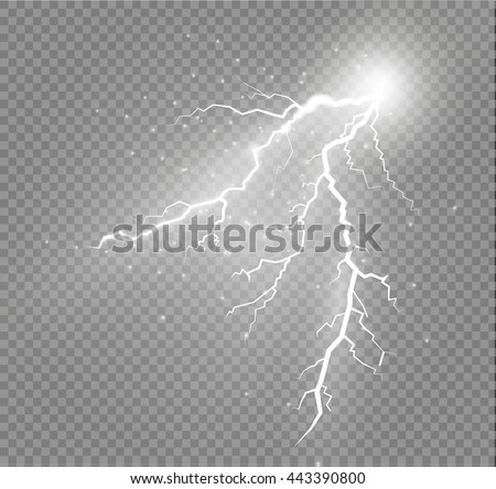 set of lightnings thunder